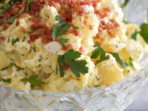 Classic Potato Salad Side Dish Recipe Chips Pepper